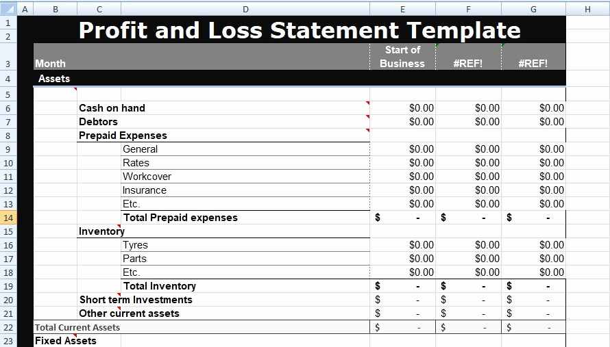Profit Loss Statement Template Excel Beautiful Profit and Loss Statement Template Xls