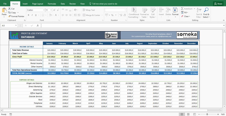 Profit Loss Statement Template Excel Elegant Profit and Loss Statement Template Free Excel Spreadsheet