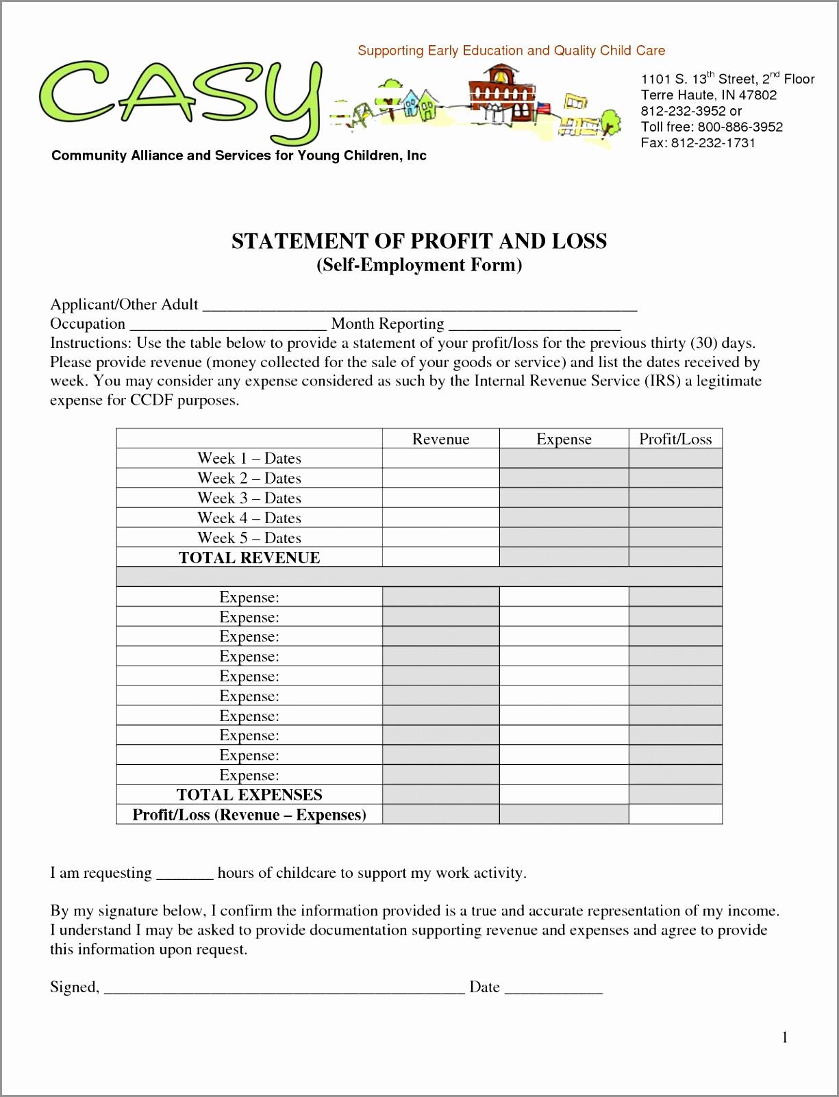 Profit Loss Statement Template Excel Inspirational 5 Sample Profit and Loss Statement Excel Template Ptbre