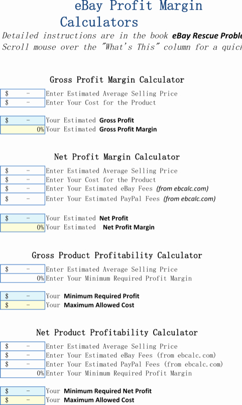 Profit Margin Excel Spreadsheet Template Beautiful Download Excel Calculator Templates for Free formtemplate