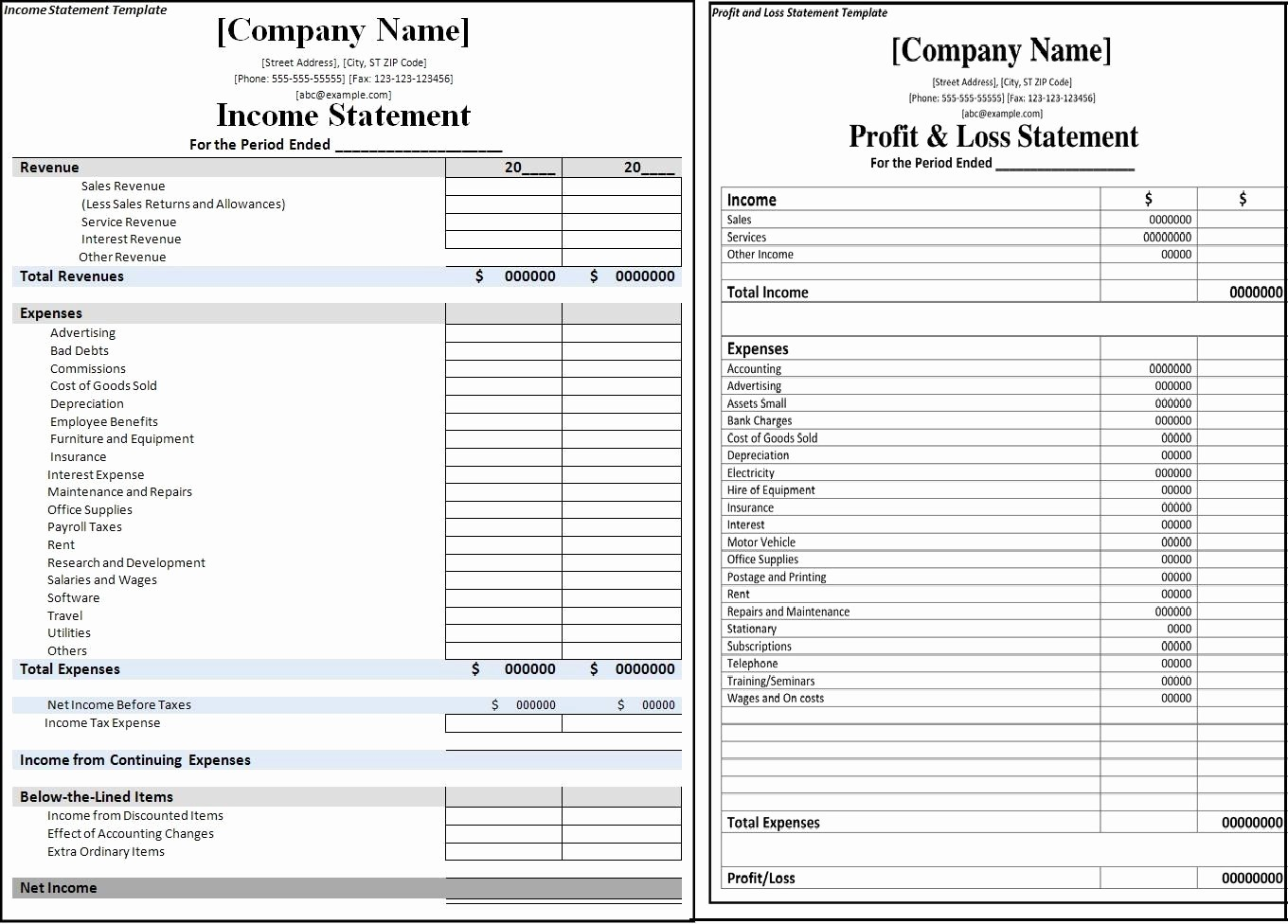 Profits and Loss Statement Template Best Of Profit and Loss Statement Vs In E Statement