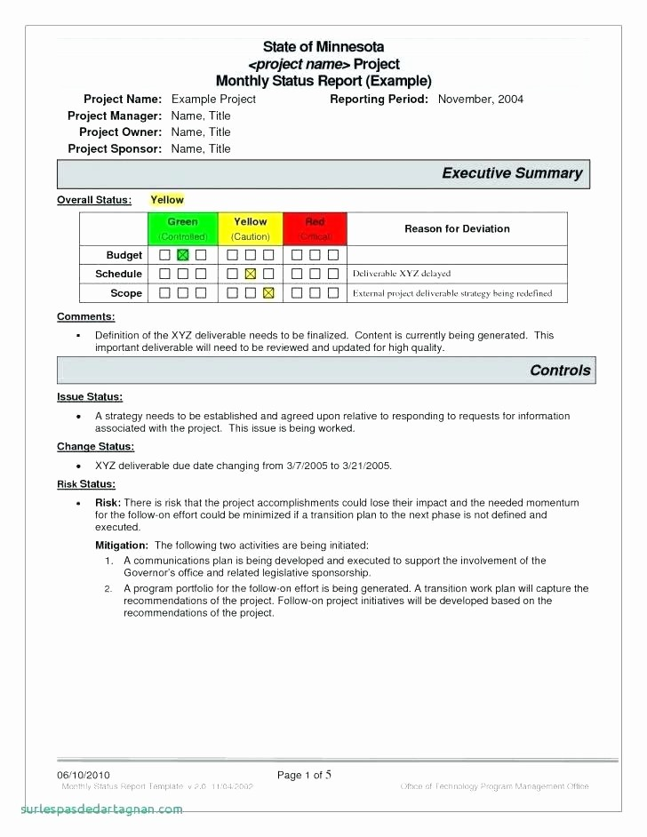 Program Management Status Report Template Awesome Agile Project Management Status Report Template and