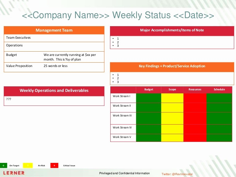 Program Management Status Report Template Awesome Executive Status Report Template