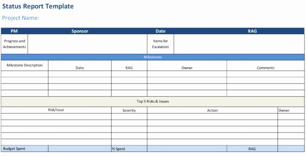 Program Management Status Report Template Beautiful Status Report Template Projectmanager