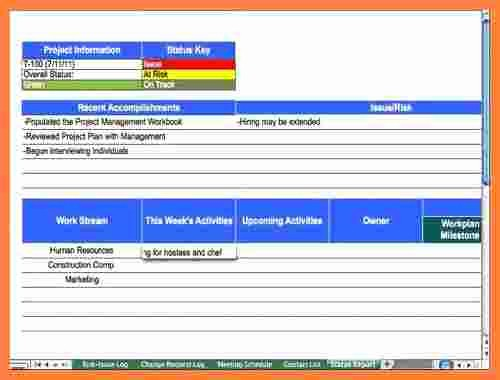 Program Management Status Report Template Best Of 5 Program Management Status Report Template