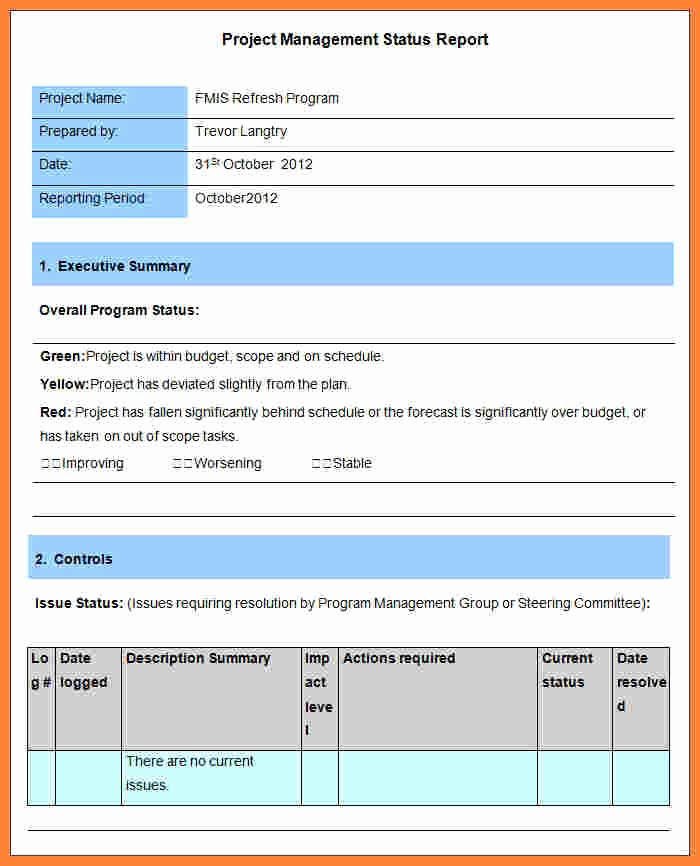 Program Management Status Report Template Elegant 5 Program Management Reporting Template