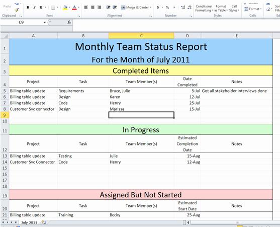 Program Management Status Report Template Unique Get Project Status Report Template Excel
