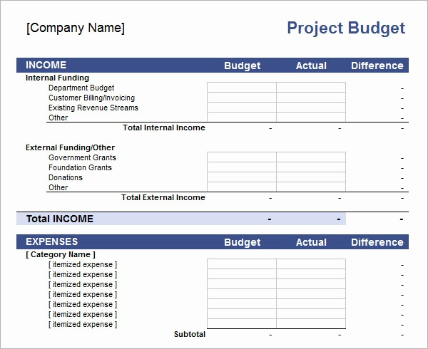 Project Budget Template Excel Free Awesome 11 Sample Bud Templates In Excel