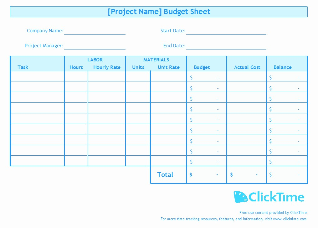 Project Budget Template Excel Free Beautiful Business Bud Template