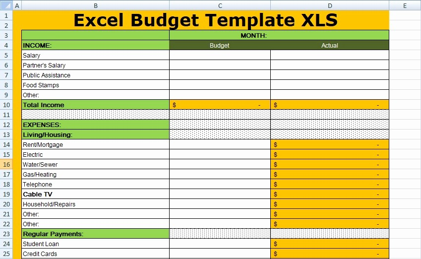 Project Budget Template Excel Free Fresh Free Excel Bud Template Xls