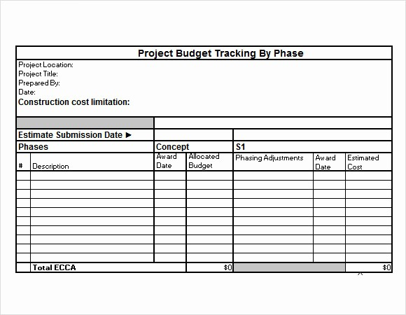 Project Budget Template Excel Free Unique Project Bud Tracker Excel Template Free Bud