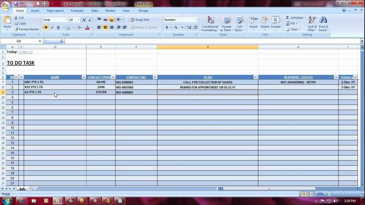 Project Contact List Template Excel Fresh Excel Templates to Do Task Manager