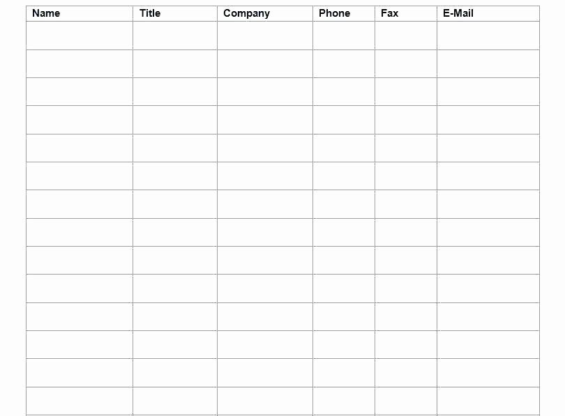Project Contact List Template Excel Unique Contact List Template – Puebladigital