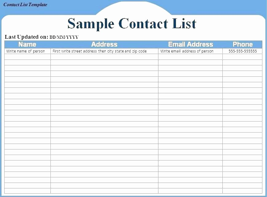 Project Contact List Template Excel Unique Task Checklist Template Excel Distribution Doc format