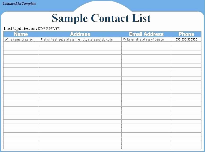Project Contact List Template Excel Unique Task Checklist Template Excel Distribution Doc format