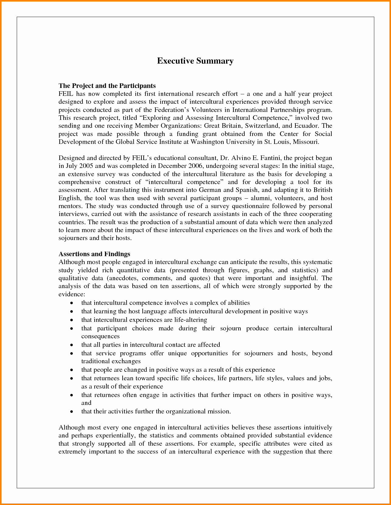 Project Executive Summary Template Word Fresh Executive Summary Template Example Mughals