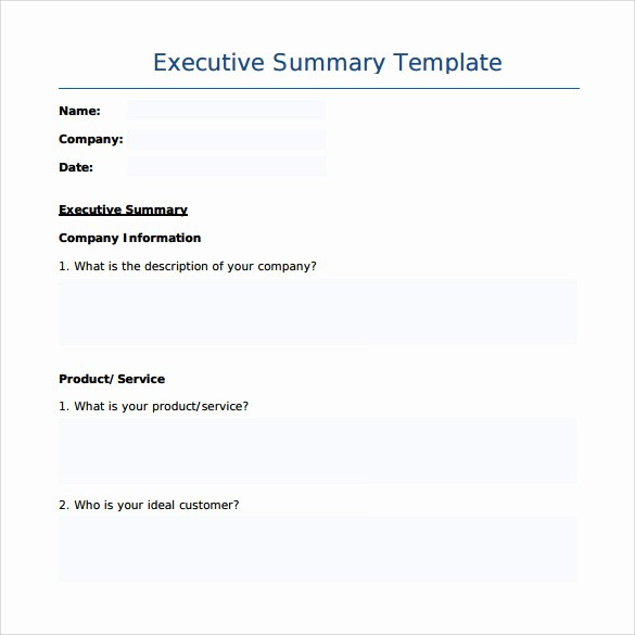 Project Executive Summary Template Word New 8 Executive Summary Templates – Samples Examples