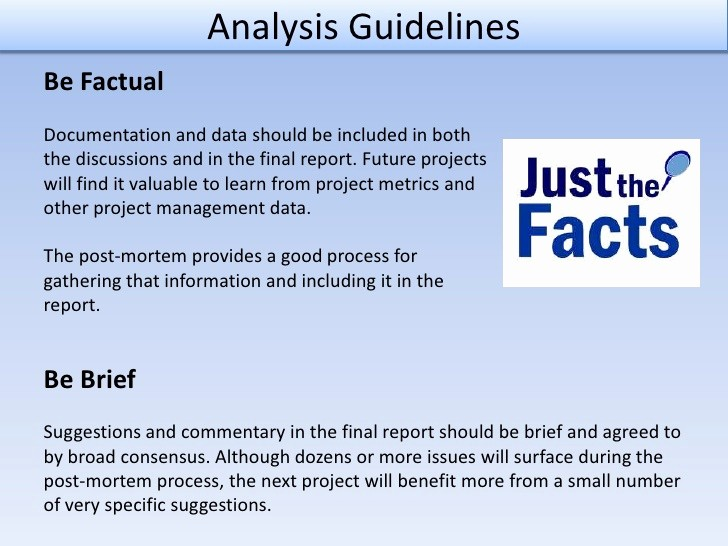 Project Management Post Mortem Template Best Of Post Mortem Analysis