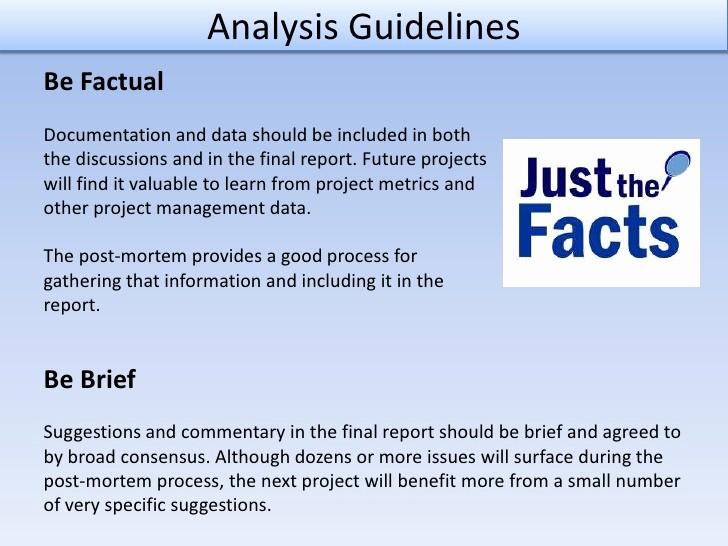Project Management Post Mortem Template Best Of Post Mortem Analysis