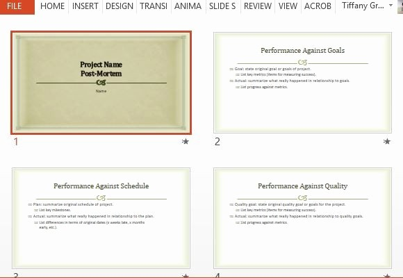 Project Management Post Mortem Template Best Of Project Post Mortem Powerpoint Template