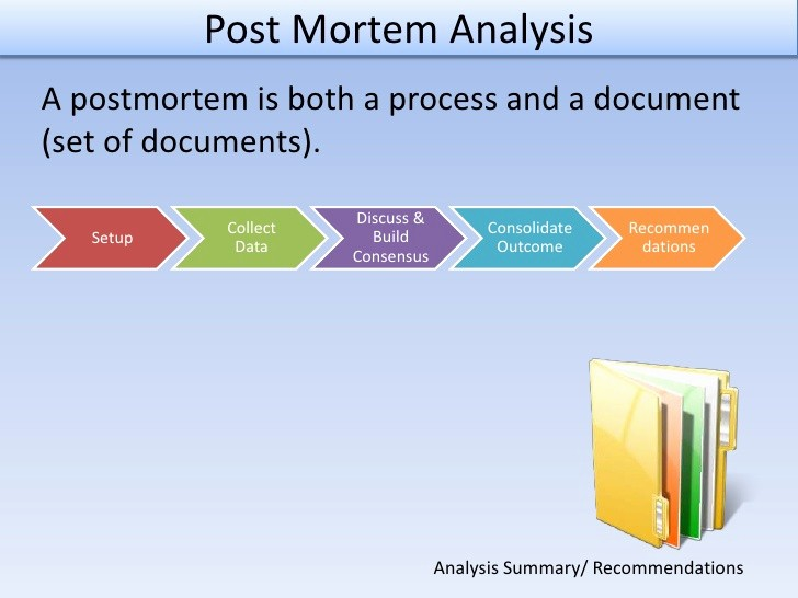 Project Management Post Mortem Template New Post Mortem Analysis