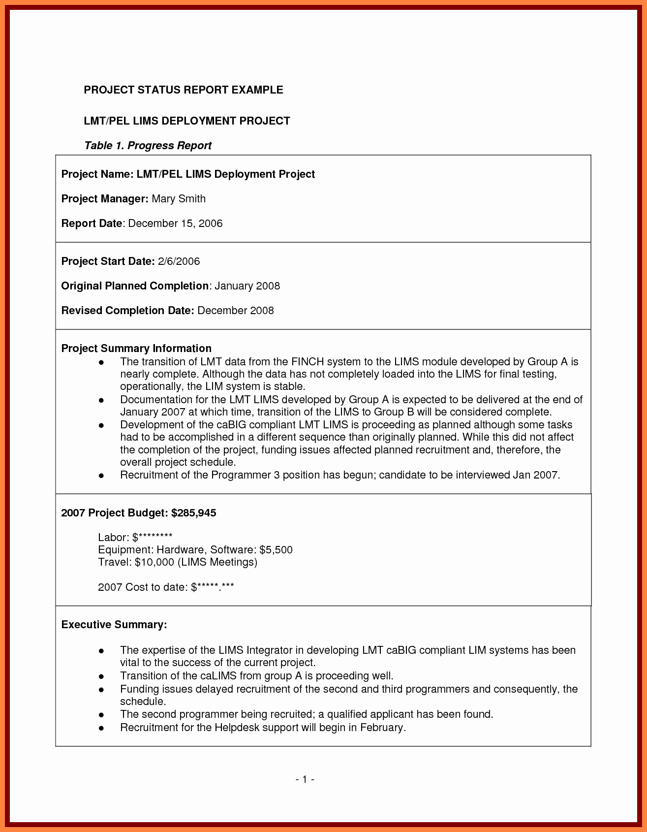 Project Management Progress Report Template Best Of 7 Project Management Final Report Template