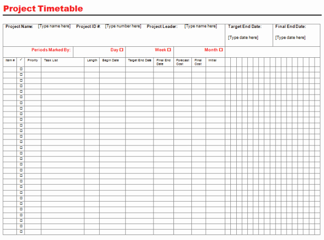 Project Management Schedule Template Excel Fresh Project Timeline Template for Excel and Word