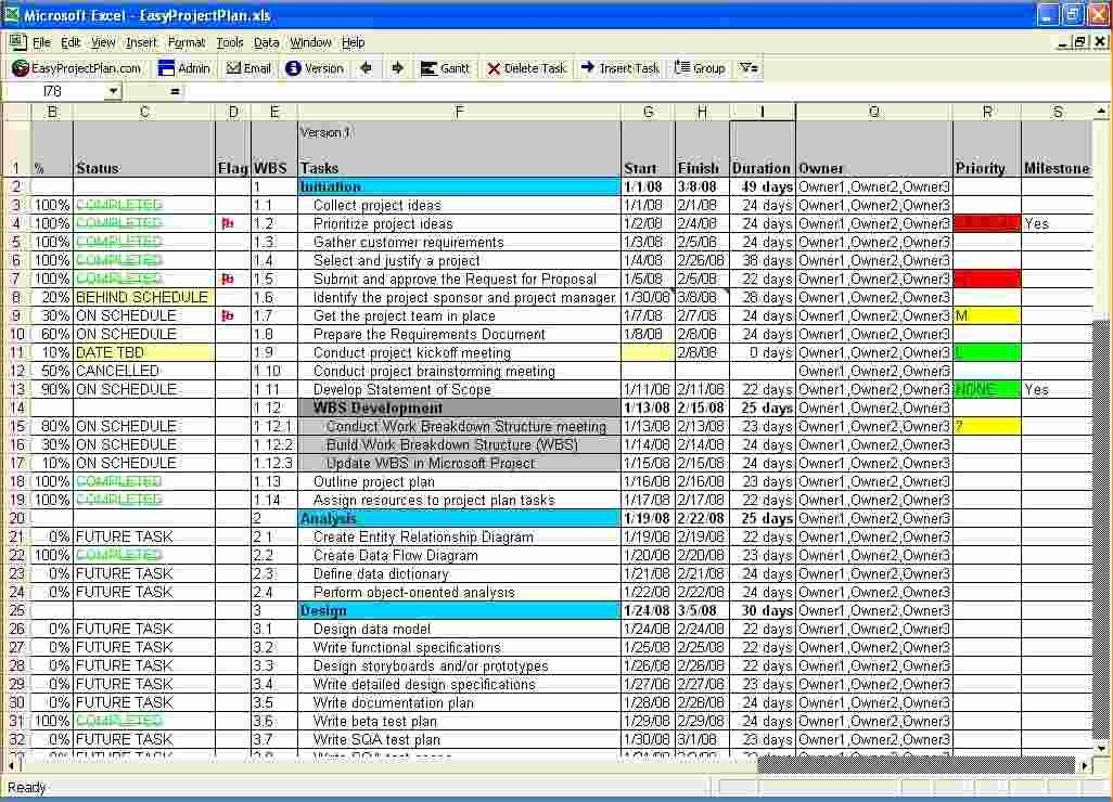Project Management Spreadsheet Template Excel Fresh 5 Free Excel Project Management Tracking Templates
