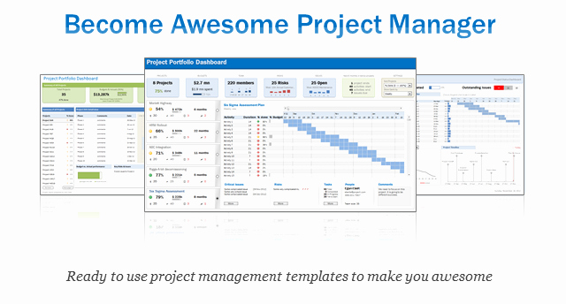 Project Management Spreadsheet Template Free Awesome Excel Project & Portfolio Management Templates Download