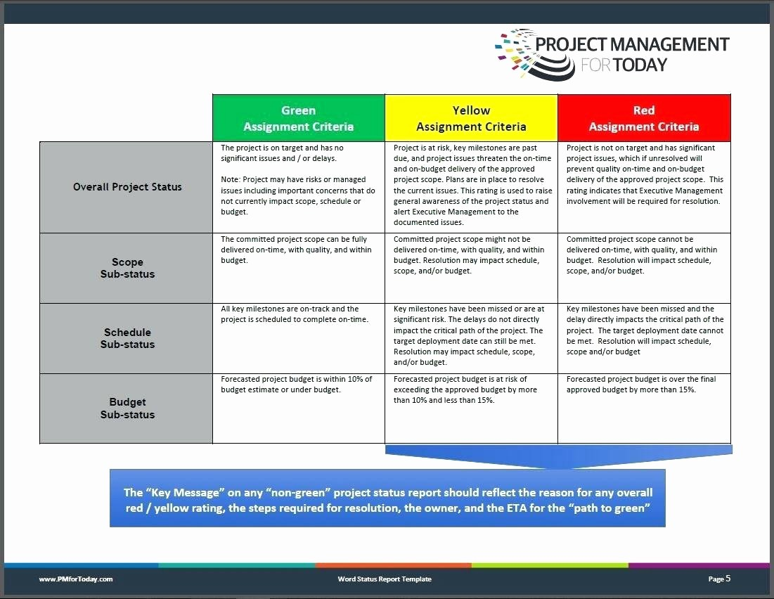Project Management Status Report Example Unique Template Project Status Report Template In Excel Capture