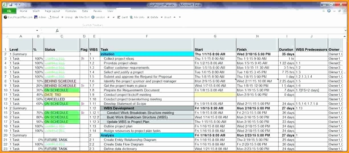 Project Management Template Excel Free Elegant Excel Project Planner – thermomixub