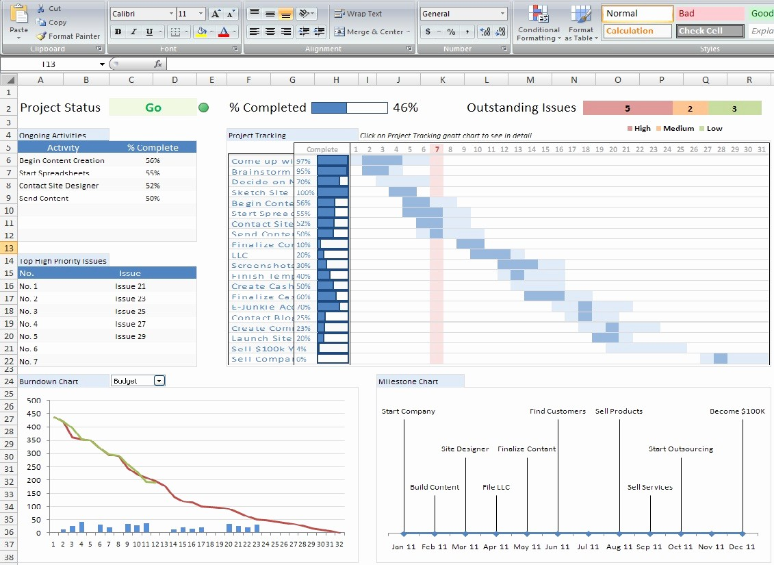 Project Management Templates In Excel New Custom Excel Spreadsheets