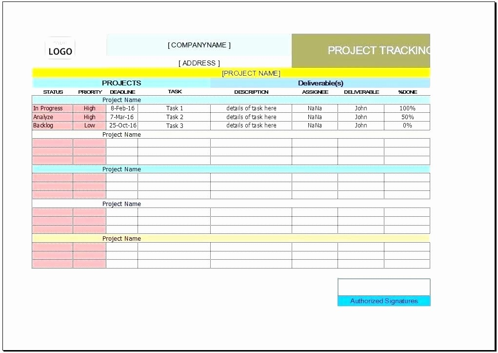 Project Management Templates In Excel New Task Planner Excel Template – Freewarearenafo