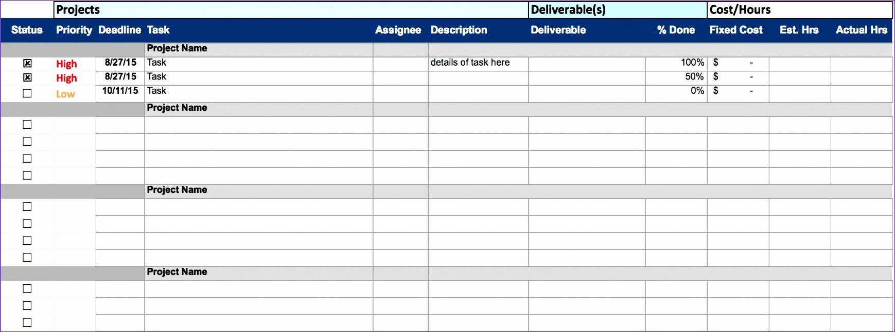 Project Management Time Tracking Excel Elegant 12 Excel Templates for Time Tracking Exceltemplates