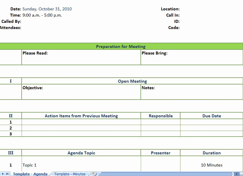 Project Meeting Minutes Template Excel Beautiful Sample Meeting Agenda Template