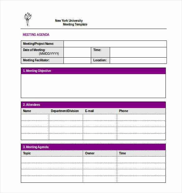 Project Meeting Minutes Template Excel Elegant 9 10 Minutes Of Meeting Templates In Word