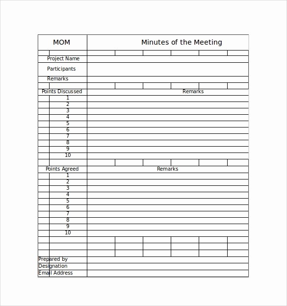 Project Meeting Minutes Template Excel Inspirational 42 Free Sample Meeting Minutes Templates