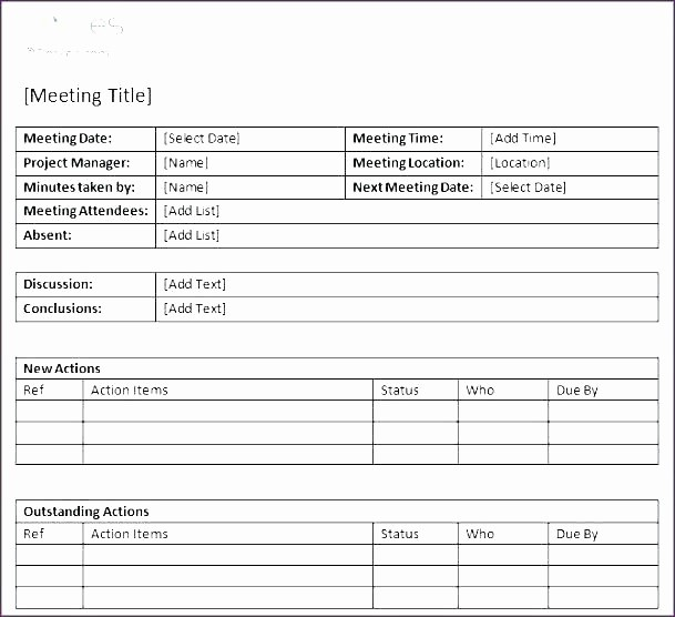 Project Meeting Minutes Template Excel Lovely Project Meeting Minutes Template Construction Daily Log