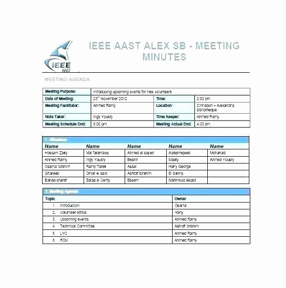 Project Meeting Minutes Template Excel Luxury Agenda Template Excel Meeting Minutes 8 Best Agendas