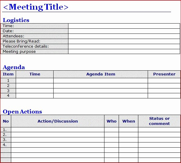 Project Meeting Minutes Template Excel Unique Minutes Of Meeting Template Word Projectemplates