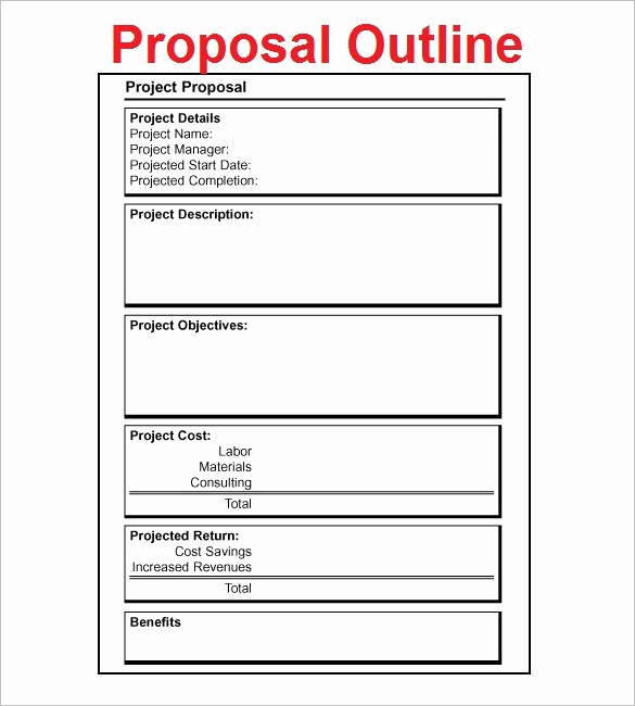 Project Outline Template Microsoft Word Awesome Proposal Outline Templates 20 Free Free Word Pdf