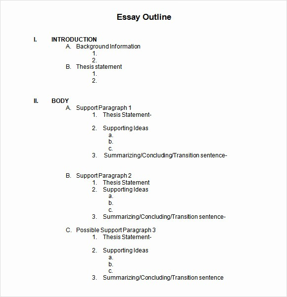 Project Outline Template Microsoft Word Elegant 6 Sample Blank Outline Templates