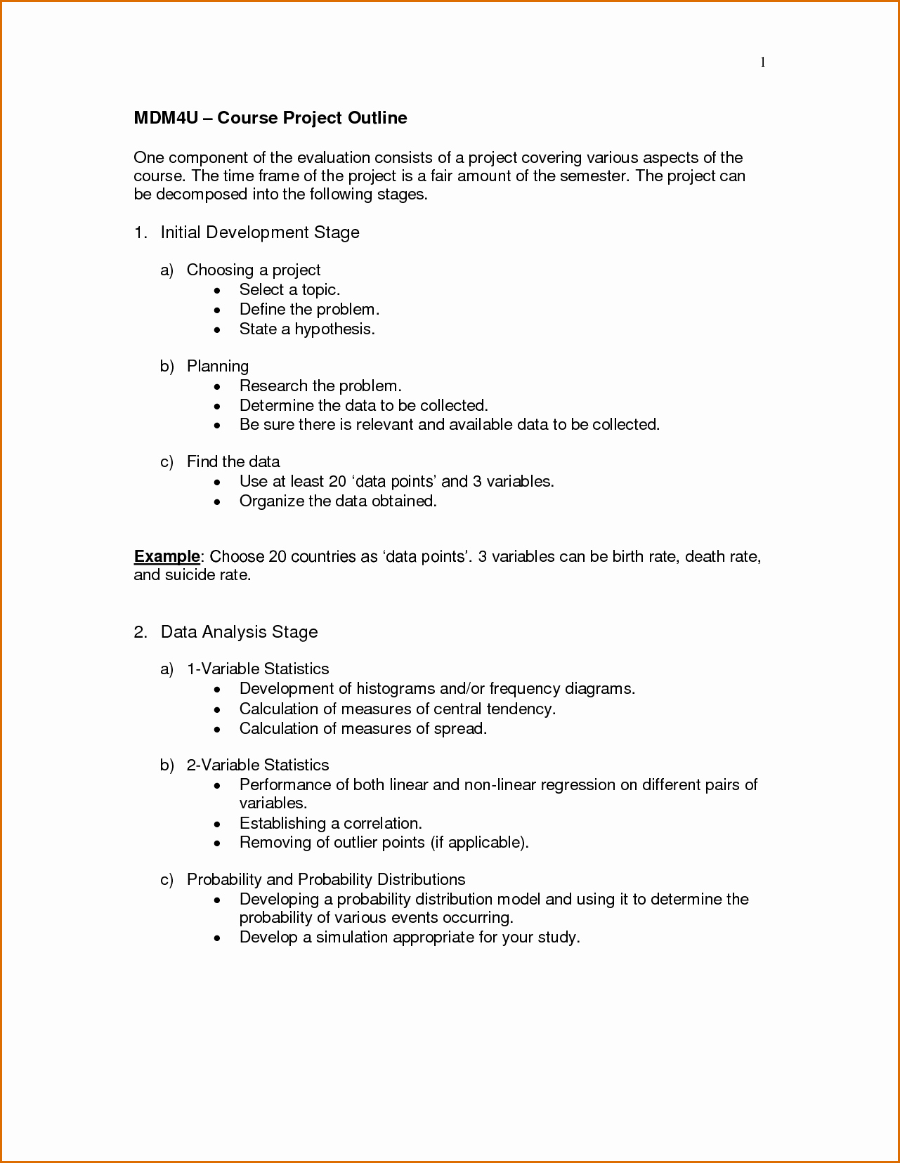 Project Outline Template Microsoft Word Fresh 4 Project Outline Template