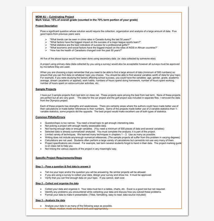 Project Outline Template Microsoft Word Luxury Project Outline Template 15 Sample Example format