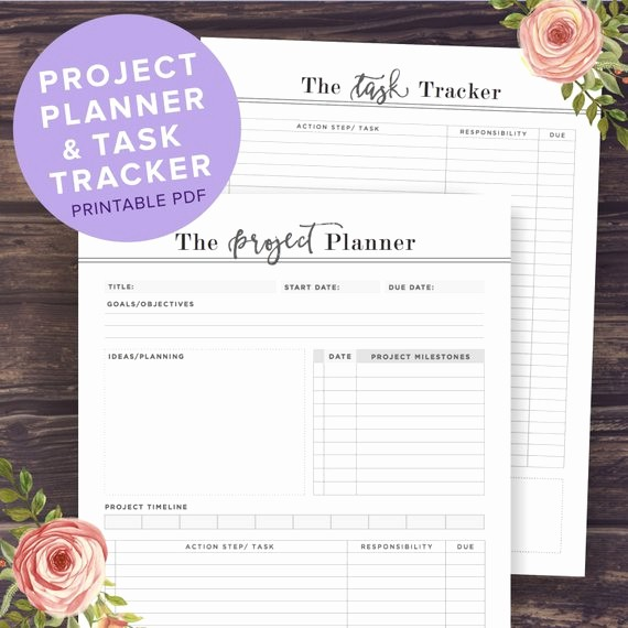 Project Planning Template for Students Beautiful Project Planner Printable Productivity Planner Task