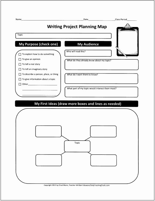 Project Planning Template for Students Best Of Generic Graphic organizer that Can Lead Ell Students