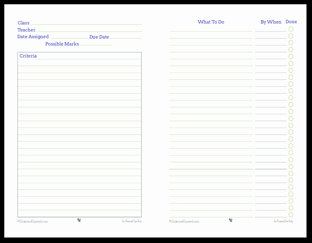 Project Planning Template for Students Best Of Getting Ready for Back to School Student Planner Printables
