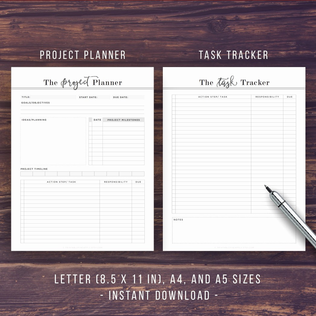 Project Planning Template for Students Elegant Project Planner Printable Productivity Planner Task