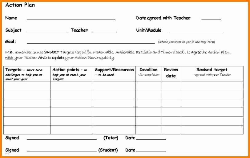 Project Planning Template for Students Inspirational 7 Example Of Action Plan Template