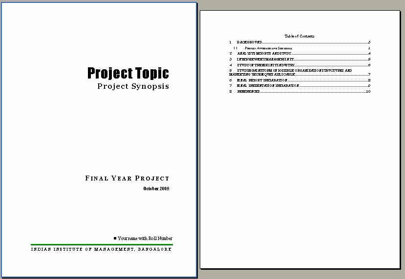 Project Report format In Word Elegant Iim Bangalore Pgsem Mba Blog Pgsm Interim Report format